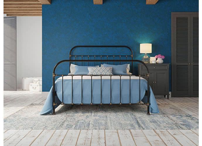Кровать Originals by Dreamline Pauline (1 спинка) Черный глянцевый с позолотой
