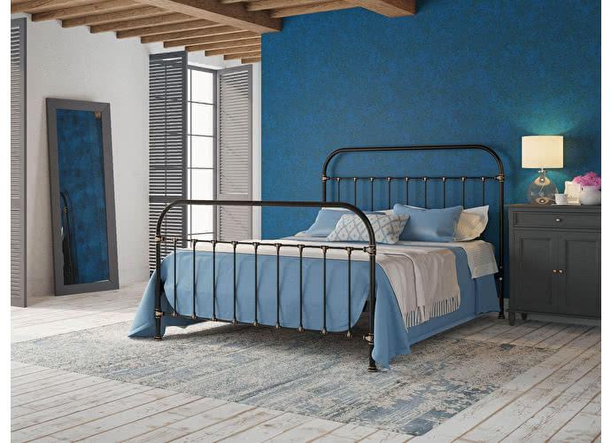 Кровать Originals by Dreamline Pauline (2 спинки) Черный глянцевый с позолотой
