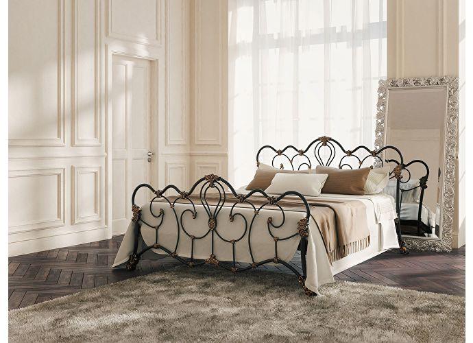 Кровать Originals by Dreamline Michelle (1 спинка) Черный глянцевый с позолотой