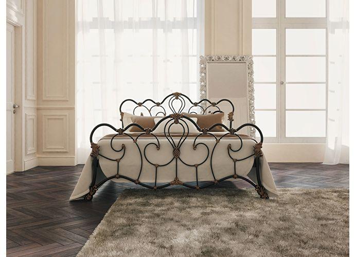 Кровать Originals by Dreamline Michelle (2 спинки) Черный глянцевый с позолотой