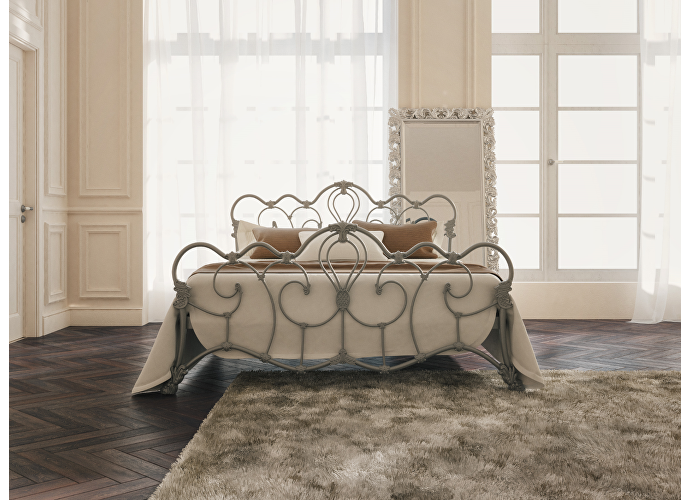 Кровать Originals by Dreamline Michelle (2 спинки) Серебро