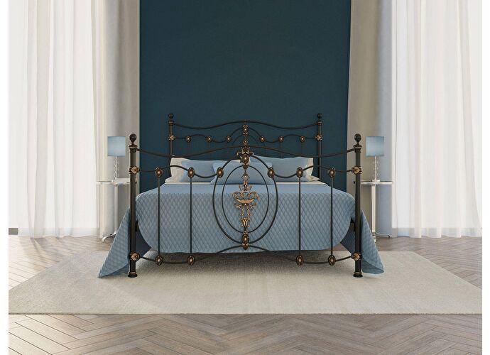 Кровать Originals by Dreamline Diana (1 спинка) Черный глянцевый с позолотой