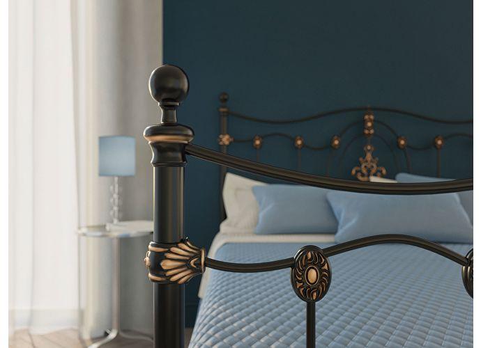 Кровать Originals by Dreamline Diana (2 спинки) Черный глянцевый с позолотой