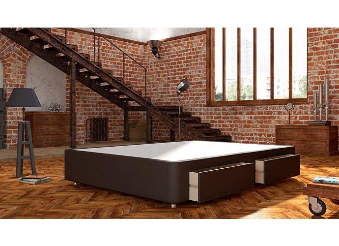 Кроватный бокс LordBed Site Box Brown (экокожа)