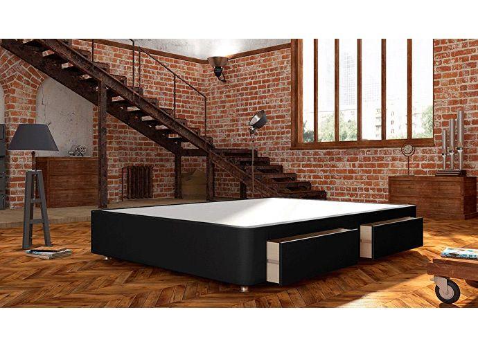 Кроватный бокс LordBed Site Box Black (экокожа)