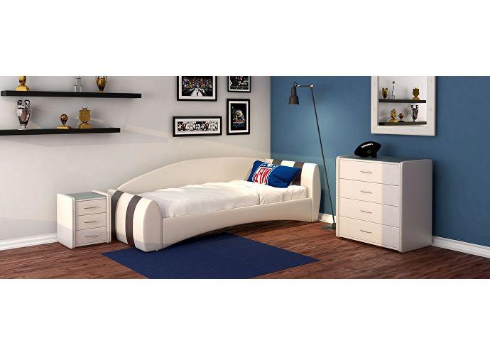Кровать Moon Trade Кальвет (правая) Модель 386