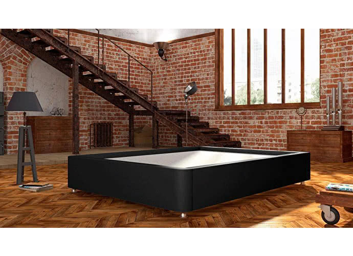 Кроватный бокс LordBed Practic Box Black (экокожа)