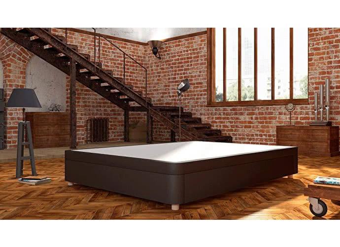 Кроватный бокс LordBed Flip Box Brown (экокожа)