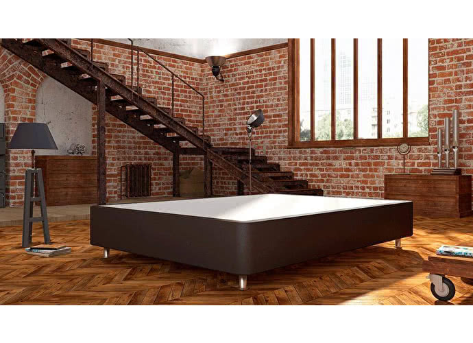Кроватный бокс LordBed Hard Box Brown (экокожа)