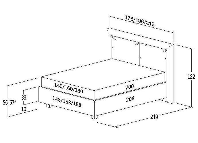 Кровать Консул Артемида (кожа)