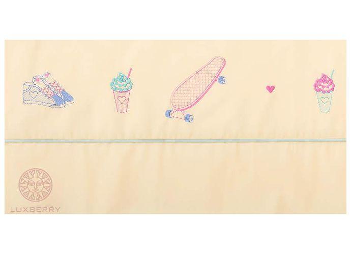 Детский постельное белье Luxberry Skategirls, простыня без резинки