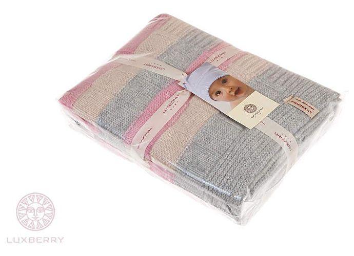 Детский плед Luxberry Lux 218 розовый/белый/серый