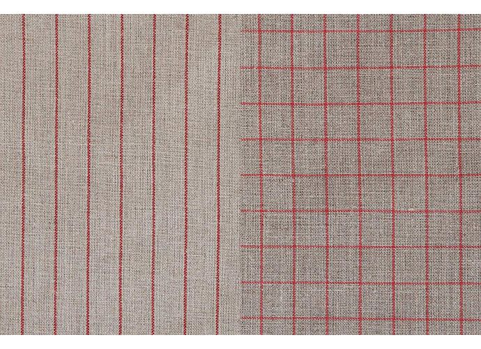 Набор кухонных полотенец Luxberry Timeless maxi натуральный/красный
