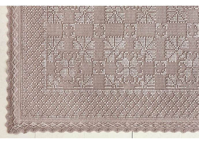 Коврик Luxberry Vintage 2, 70х100 см пудра