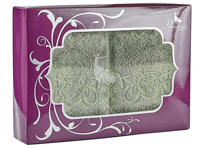 Набор полотенец Primavelle Deni, 50x90 (2 шт.) зеленый чай