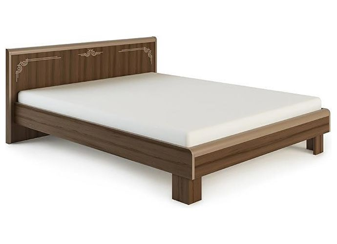 Кровать МСТ Оливия МДФ, мод. 1.3 (180) дезира темный/мокко