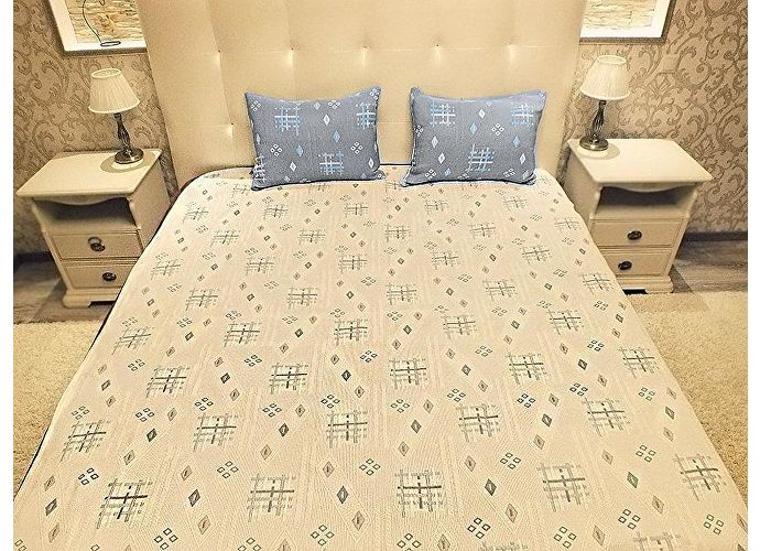 Покрывало Natures Уютный Прованс-Штрихи с подушкой