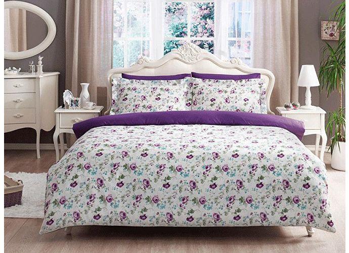 Постельное белье Tivolyo Delux Garden лиловый