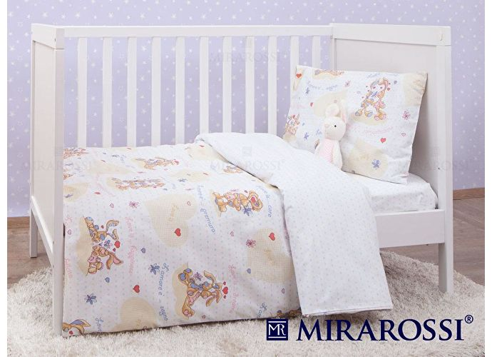 Детское постельное белье Mirarossi Lamore E white