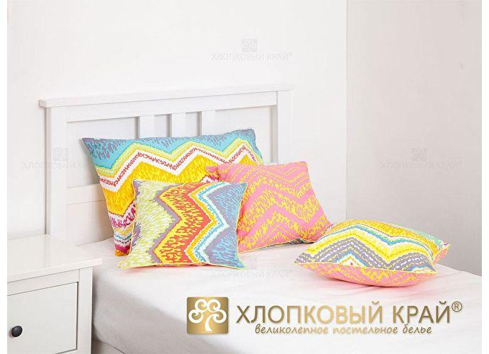 Постельное белье Хлопковый край Zigzag orange