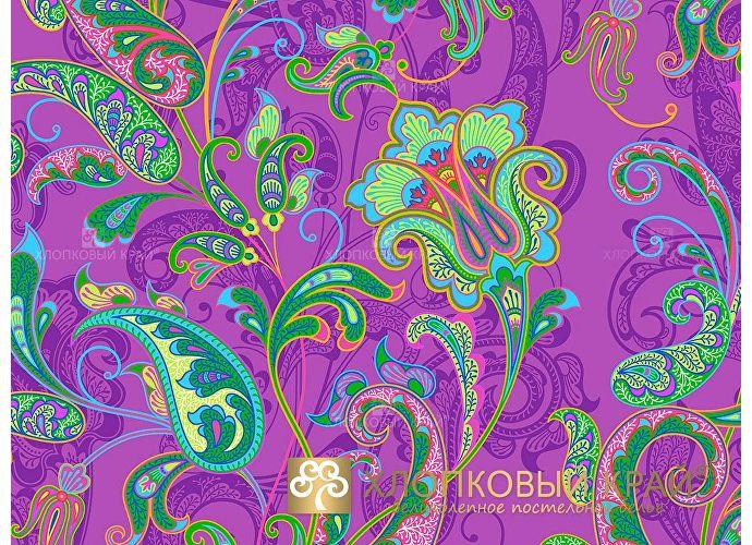Постельное белье Хлопковый край Кемер, виола