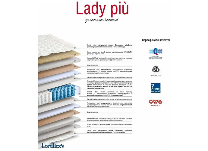 Матрас Lordflex Lady piu