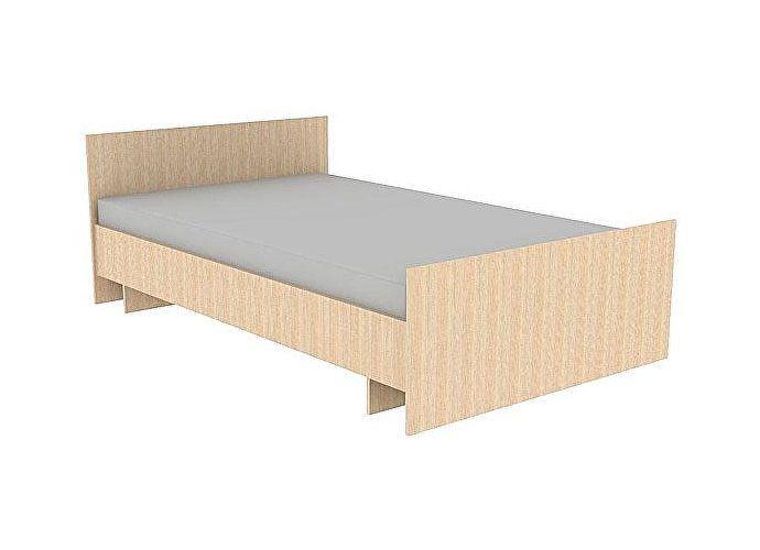Кровать ГРОС Даша КРС-28 (140) без матраца дуб молочный