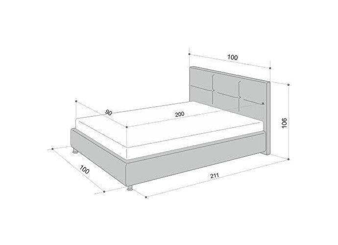 Кровать Аскона Leo с подъемным механизмом, 2 категория