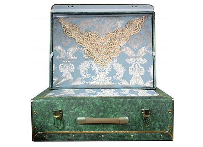 Постельное белье KAZANOV.A. Donna Leda с покрывалом, бежевый/голубой