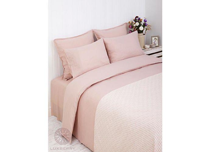Постельное белье Luxberry Linen розовый