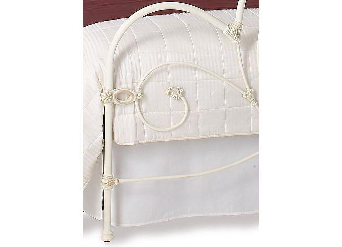 Кровать Баллина текстурный цвет слоновой кости с позолотой