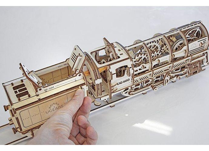 Конструктор 3D-Пазл Ugears Локомотив с тендером