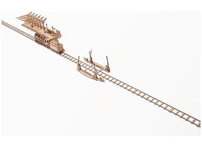 Конструктор 3D-Пазл Ugears Рельсы и переезд