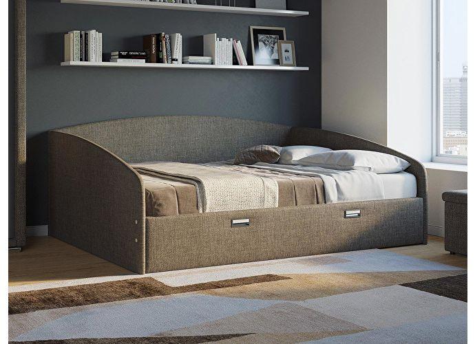 Кровать Орматек Bono (цвета люкс и ткань) Лофти олива