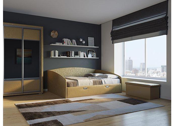 Кровать Орматек Bono (цвета люкс и ткань) Sprinter gold (экокожа)