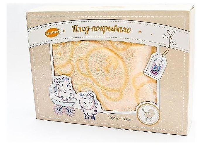 Плед ОТК Micro Velur 100х140 см персиковый