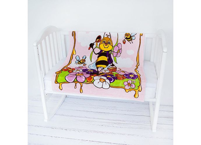 Плед ОТК Пчелы розовый
