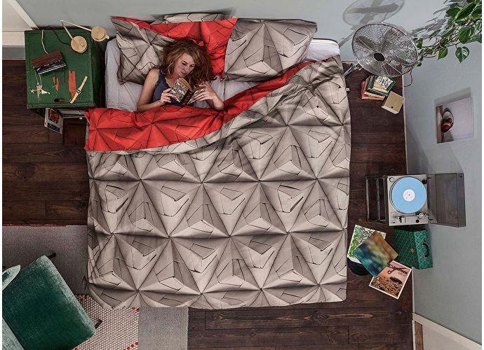 Постельное белье Snurk Оригами красный