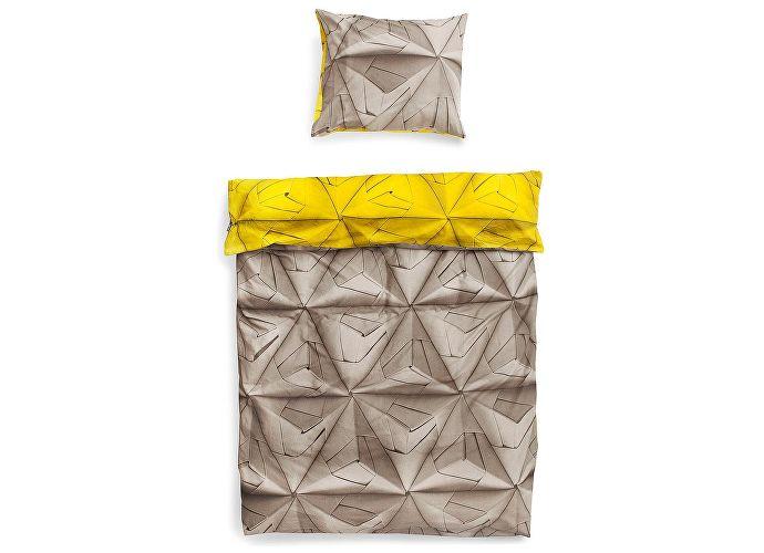 Постельное белье Snurk Оригами желтый