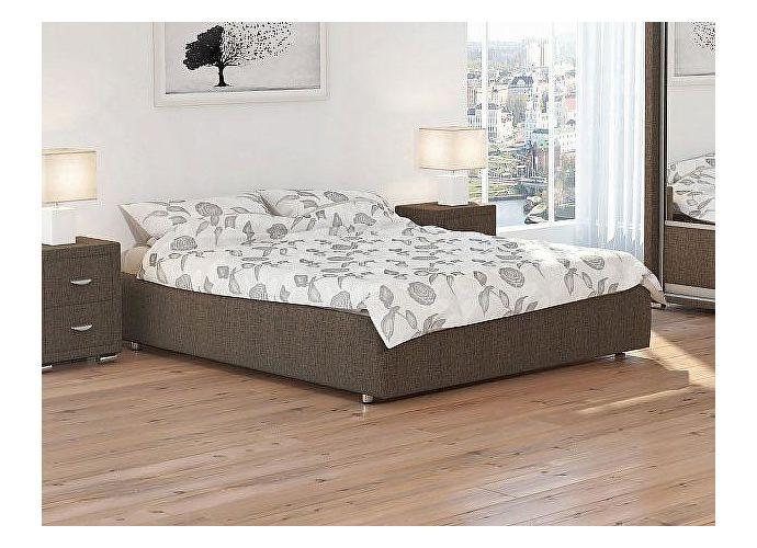 Кровать Орматек Como 1 Base цвета люкс и ткань Глазго коричневый