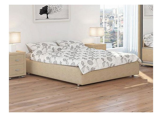 Кровать Орматек Como 1 Base цвета люкс и ткань Глазго бежевый