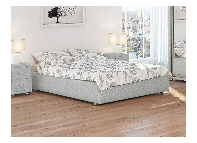 Кровать Орматек Veda 1 Base цвета люкс и ткань Глазго серый