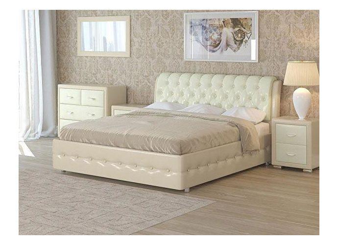 Кровать Como 4 Орматек (ткань и цвета люкс) Бежевый перламутр (5062)/молочный перламутр (5061)