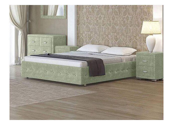 Кровать Орматек Como 4 Base цвета люкс и ткань Лофти олива