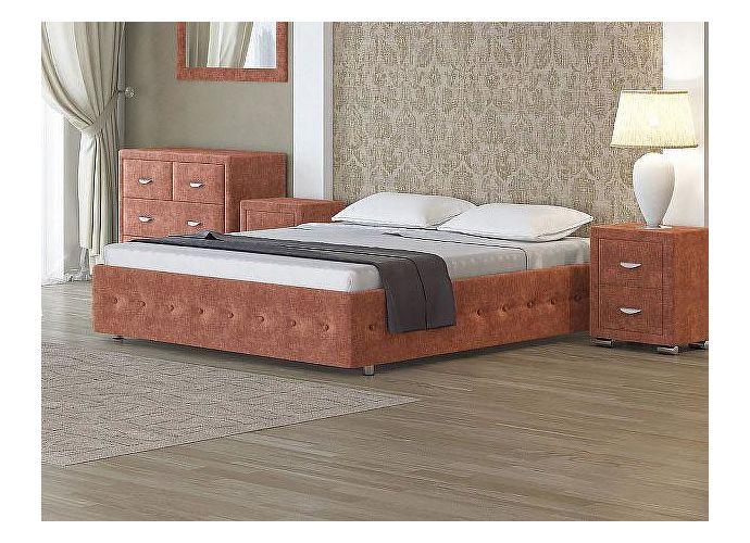 Кровать Орматек Como 4 Base цвета люкс и ткань Лофти рыжий