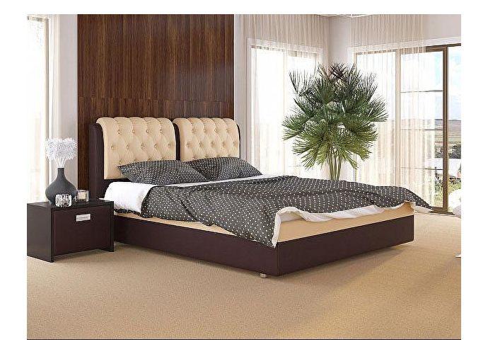 Кровать Como 5 Орматек Brown (TM-Venge)/Бежевый (Cream Terra-101)