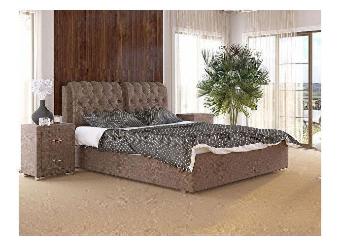 Кровать Como 5 Орматек (ткань и экокожа) Глазго коричневый
