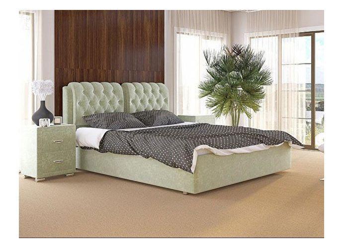Кровать Como 5 Орматек (ткань и экокожа) Лофти олива