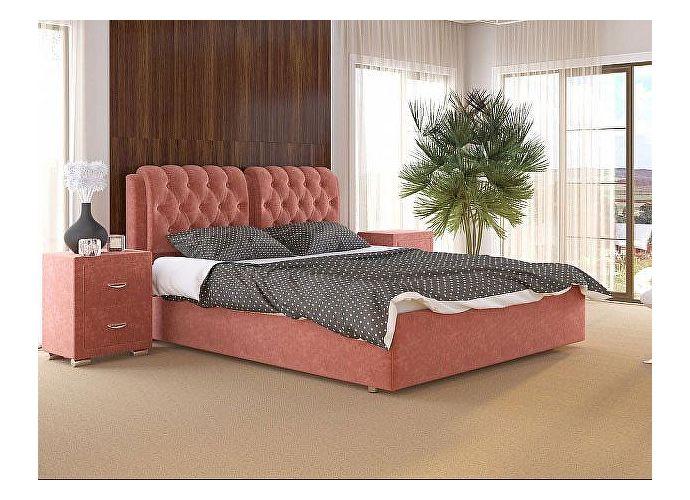 Кровать Como 5 Орматек (ткань и экокожа) Лофти рыжий