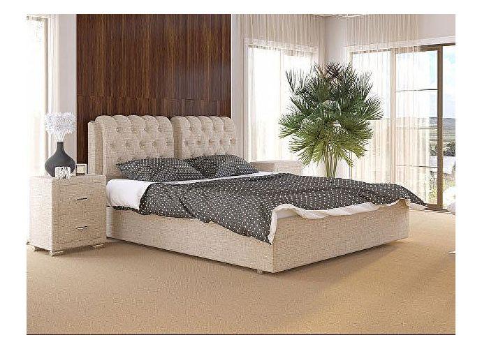 Кровать Como 5 Орматек (ткань и экокожа) Глазго бежевый